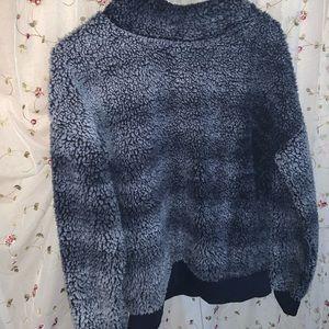 Super furry turtleneck sweater